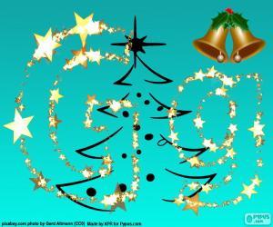 Puzzle Lettre G une lettre de Noël