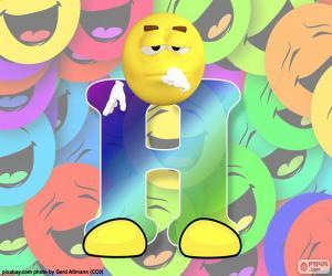 Puzzle Lettre H de smiley