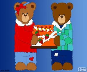 Puzzle Lettre H des ours