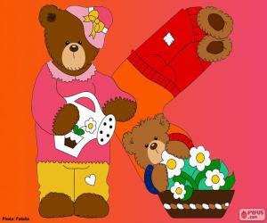 Puzzle Lettre K de l'ours
