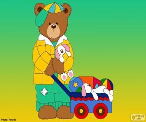 Puzzle Lettre L de l'ours