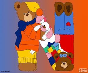 Puzzle Lettre N d'ours