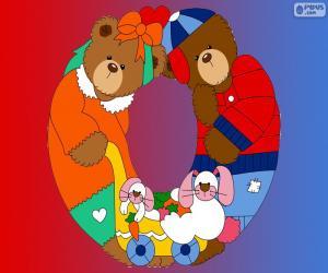 Puzzle Lettre O d'ours