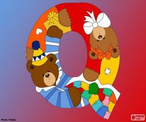 Puzzle Lettre Q d'ours