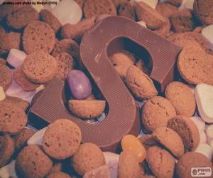 Puzzle Lettre S de chocolat