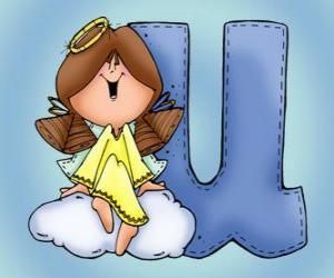 Puzzle Lettre U avec un ange