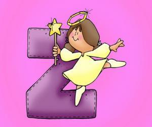 Puzzle Lettre Z avec un ange