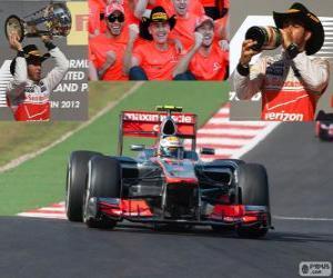 Puzzle Lewis Hamilton fête sa victoire lors du Grand Prix des États-Unis 2012