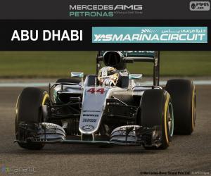 Puzzle Lewis Hamilton, GP Abu Dhabi 2016