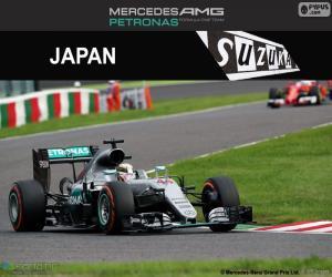 Puzzle Lewis Hamilton, GP du Japon 2016