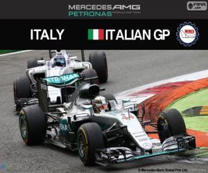 Puzzle Lewis Hamilton, G.P. Italie 2016