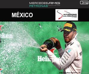 Puzzle Lewis Hamilton, GP Mexique 2016