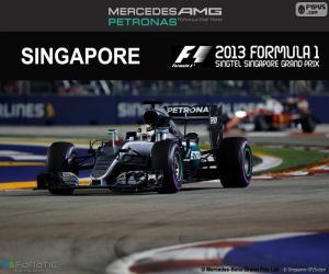Puzzle Lewis Hamilton, GP Singapour 2016