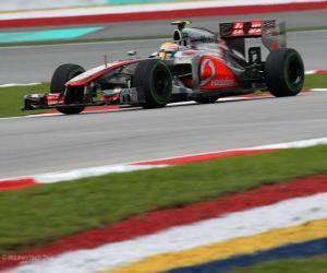 Puzzle Lewis Hamilton - McLaren - Grand Prix de Malaisie (2012) (3ème position)