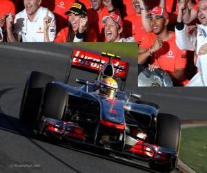 Puzzle Lewis Hamilton - McLaren - Melbourne, Grand prix d'Australie (2012) (3ème position)