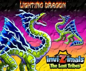 Puzzle Lightning Dragon. Invizimals The Lost Tribes. Cette invizimal dragon domine le pouvoir des éclairs et le tonnerre