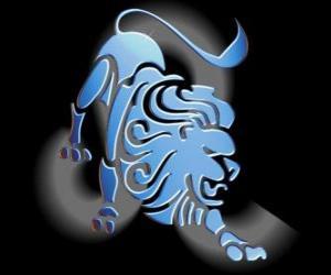 Puzzle Lion. Le Lion. Cinquième signe du zodiaque. Nom latin est Léo