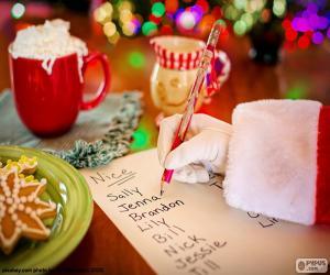 Puzzle Liste de Père Noël