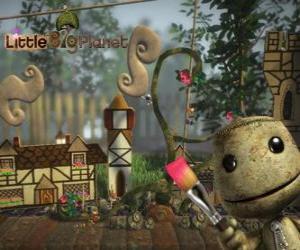 Puzzle LittleBigPlanet, jeu vidéo où les personnages sont des poupées appelées Sackboys ou Sackgirls