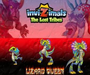 Puzzle Lizard Queen, dernière évolution. Invizimals The Lost Tribes. La Reine des reptiles est belle et sage
