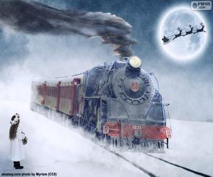 Puzzle Locomotive à vapeur Noël