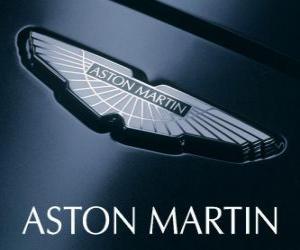 Puzzle Logo Aston Martin, constructeur automobile britannique