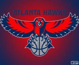 Puzzle Logo Atlanta Hawks, équipe de NBA. DivisionSud-Est,ConférenceEst