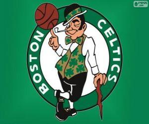 Puzzle Logo Boston Celtics, équipe de la NBA. Divisionde l'Atlantique,ConférenceEst