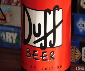 Puzzle Logo de bière Duff