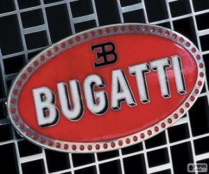 Puzzle Logo de Bugatti, marque française d'origine italienne