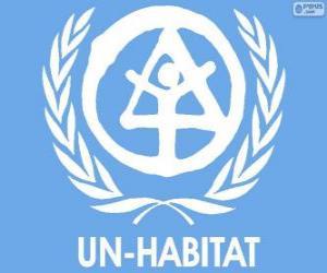 Puzzle Logo de l'ONU-HABITAT, Programme des Nations Unies pour les établissements humains