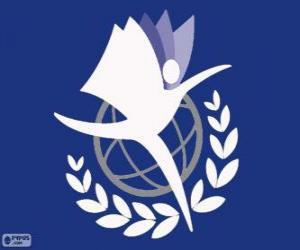 Puzzle Logo de l'UNITAR, Institut des Nations Unies pour la Formation et la Recherche