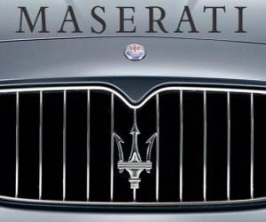 Puzzle Logo de Maserati, marque italienne de voitures de sport