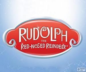 Puzzle Logo de Rodolphe le renne au nez rouge