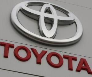 Puzzle Logo de Toyota. Constructeur automobile japonais