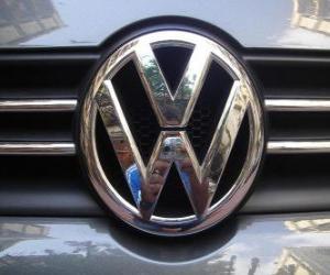 Puzzle Logo de Volkswagen, martque de voitures allemande