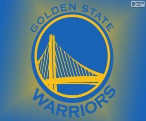 Puzzle Logo des Golden State Warriors, équipe de NBA. Division Pacifique, Conférence Ouest