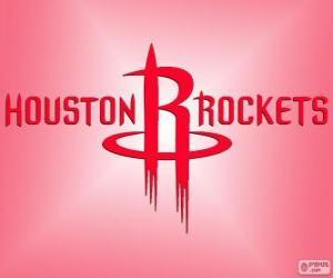 Puzzle Logo des Houston Rockets, équipe de la NBA. Division Sud-Ouest, Conférence Ouest