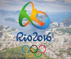 Puzzle Logo des Jeux Olympiques Rio 2016