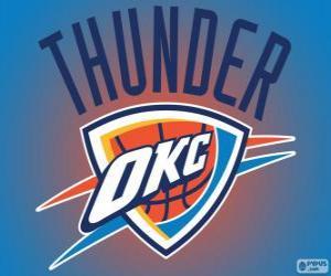 Puzzle Logo d'Oklahoma City Thunder, équipe de NBA. Division Nord-Ouest, Conférence Ouest