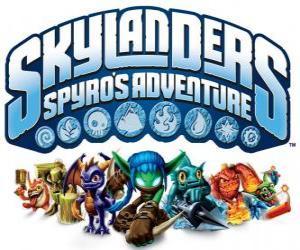 Puzzle Logo du jeu vidéo de Spyro le Dragon, Skylanders: Les aventures de Spyro