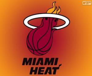 Puzzle Logo Miami Heat, équipe de NBA. DivisionSud-Est,ConférenceEst