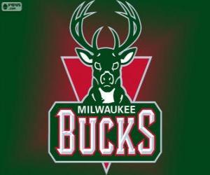 Puzzle Logo Milwaukee Bucks, équipe de la NBA. DivisionCentrale,ConférenceEst