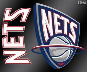 Puzzle Logo New Jersey Nets, équipe de la NBA. Divisionde l'Atlantique,ConférenceEst