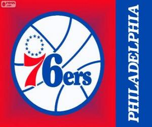 Puzzle Logo Philadelphia 76ers, Sixers, équipe de la NBA. Divisionde l'Atlantique,ConférenceEst