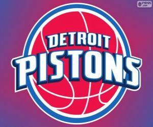 Puzzle Logo Pistons de Detroit, équipe de NBA. DivisionCentrale,ConférenceEst