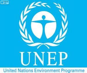 Puzzle Logo PNUE, Programme des Nations Unies pour l'environnement