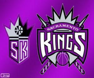 Puzzle Logo Sacramento Kings, équipe NBA. Division Pacifique, Conférence Ouest