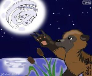 Puzzle L'ours et la lune
