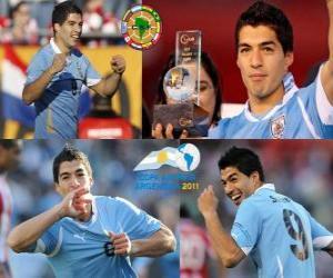 Puzzle Luis Suarez meilleur joueur de la Copa America 2011
